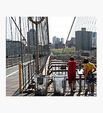 Boys On a Bridge  Photographic Print