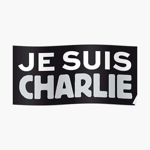 Je suis Charlie on black background French France HD High Quality Online Store Poster