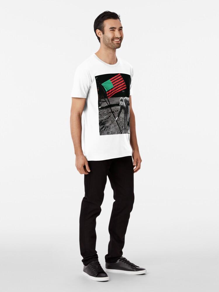 Alternative Ansicht von MLK AUF DEM MOND UND ÜBER Premium T-Shirt