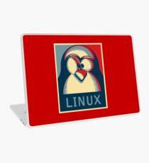 Linux tux penguin obama poster logo Laptop Skin