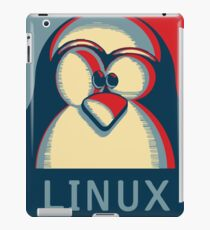 Linux tux penguin obama poster logo iPad Case/Skin