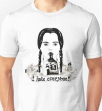 Wednesday Addams - I Hate Everyone  Unisex T-Shirt