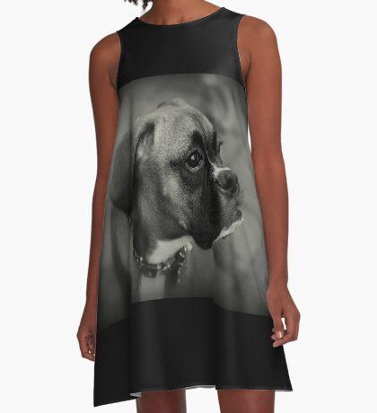 Eine Boxer-Profil ~ Boxer Dogs-Serie A-Linien Kleid
