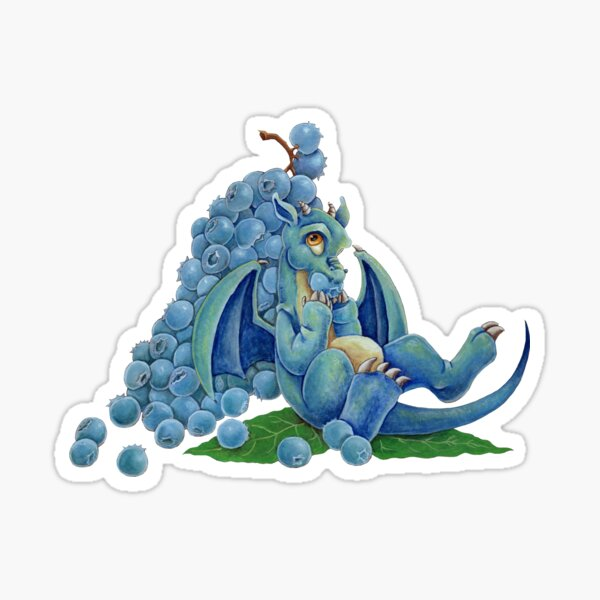 Blueberry Dragon Sticker
