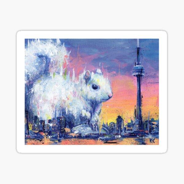 White Squirrel Sticker