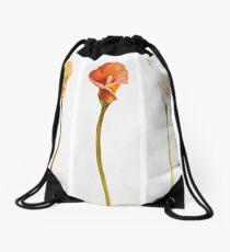 Lily Flowers Drawstring Bag