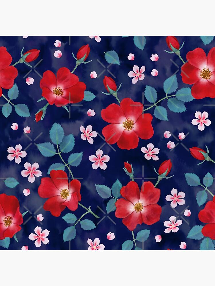 Moody Wild Roses by nadyanadya