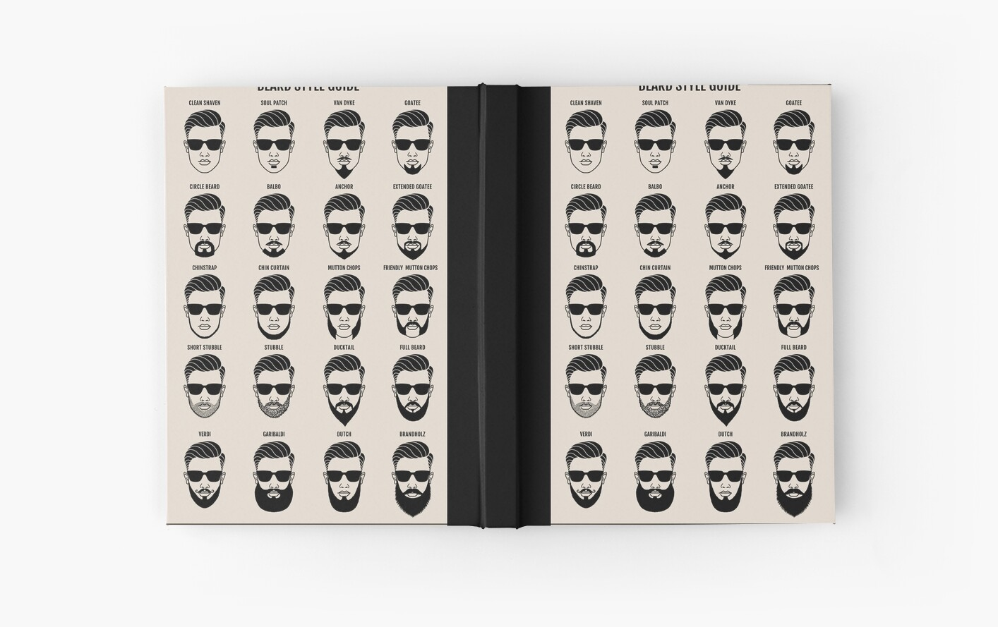 Enjoyable Beard Style Guide Posterquot Hardcover Journals By Beakraus Redbubble Short Hairstyles For Black Women Fulllsitofus