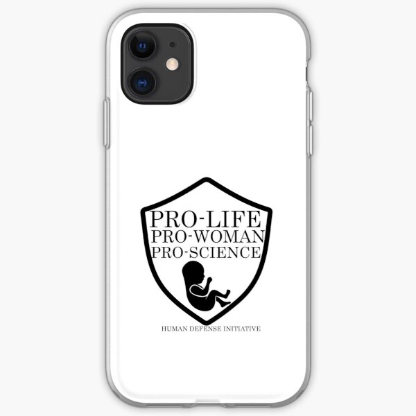 Pro life, woman, science iPhone Soft Case