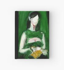 """Fashion and Victim Painting """"Green and Beauty"""" Hardcover Journal"""
