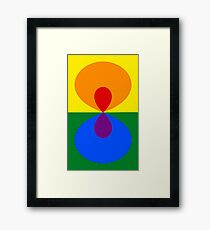 Simplistic Pride Framed Print