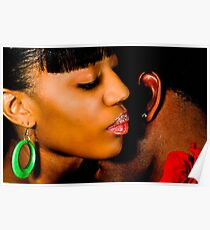 African American Couple Poster