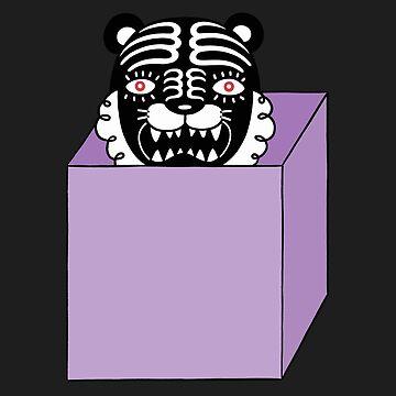 Black tiger is in the purple box by RYURAKUDO