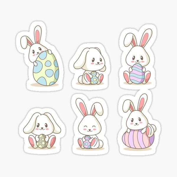 Easter Bunny Cute Rabbit Sticker