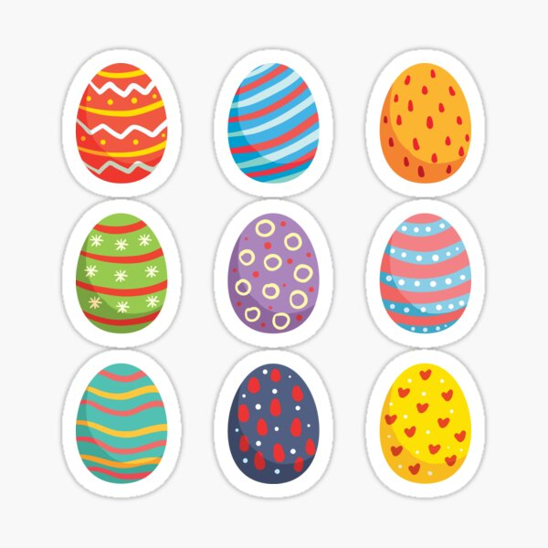Easter Day Eggs Sticker