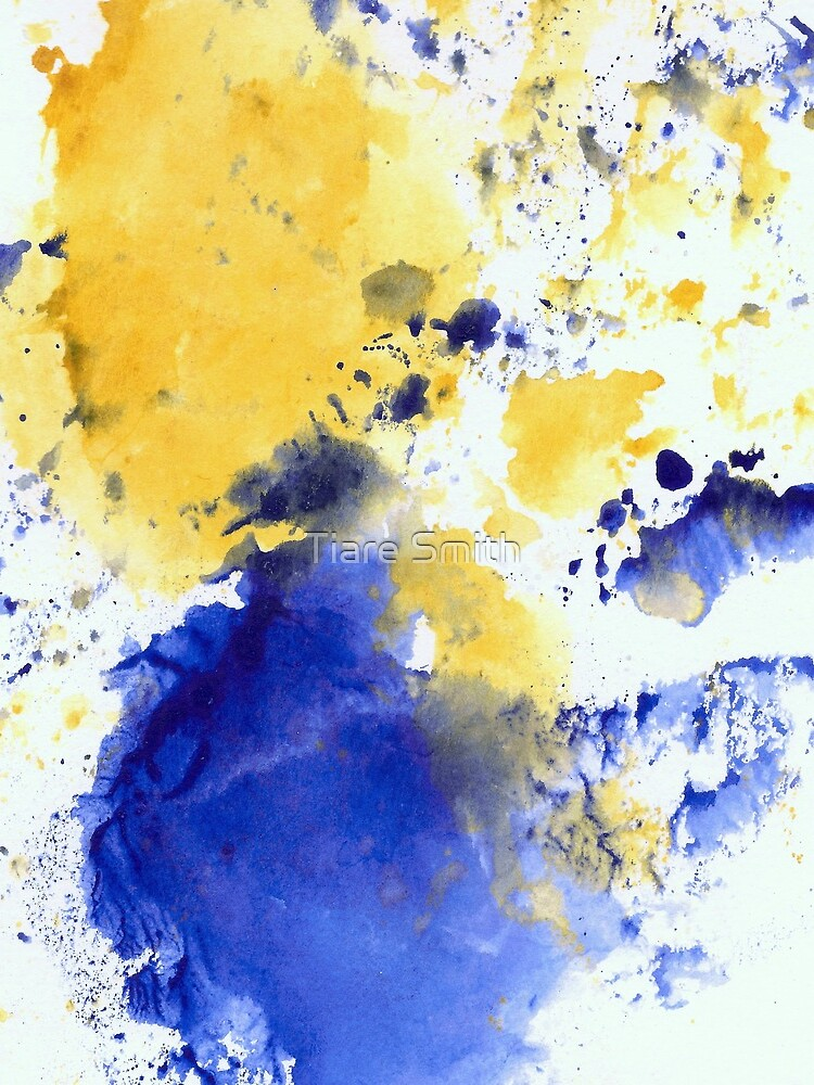Blue and Gold Splotch by classygirl