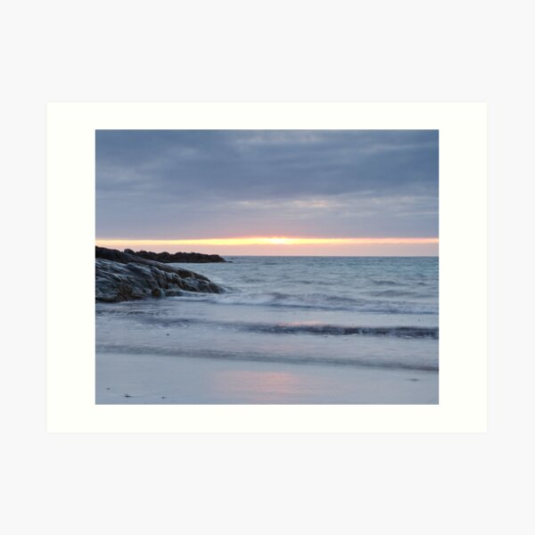 Sunset at Culla Beach, Benbecula Art Print