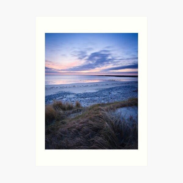 Dusk at Culla Beach from the Dunes IV Art Print