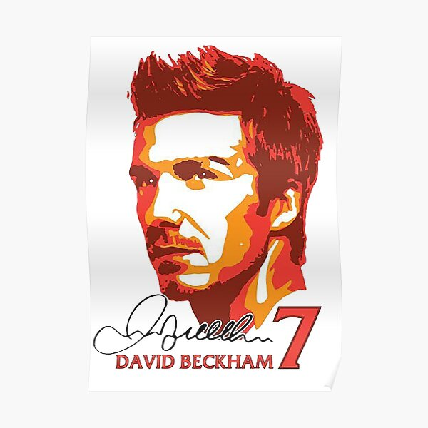 A Young David Beckham Colour Poster