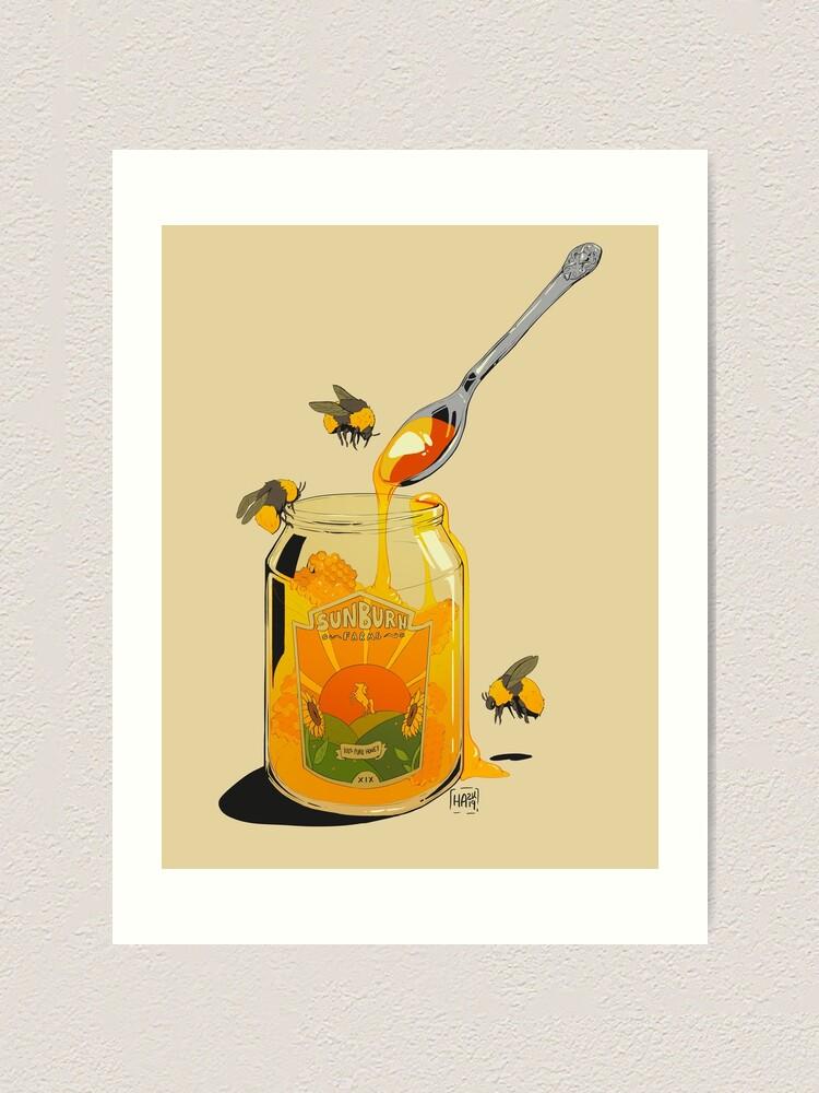 Alternate view of Honey Art Print