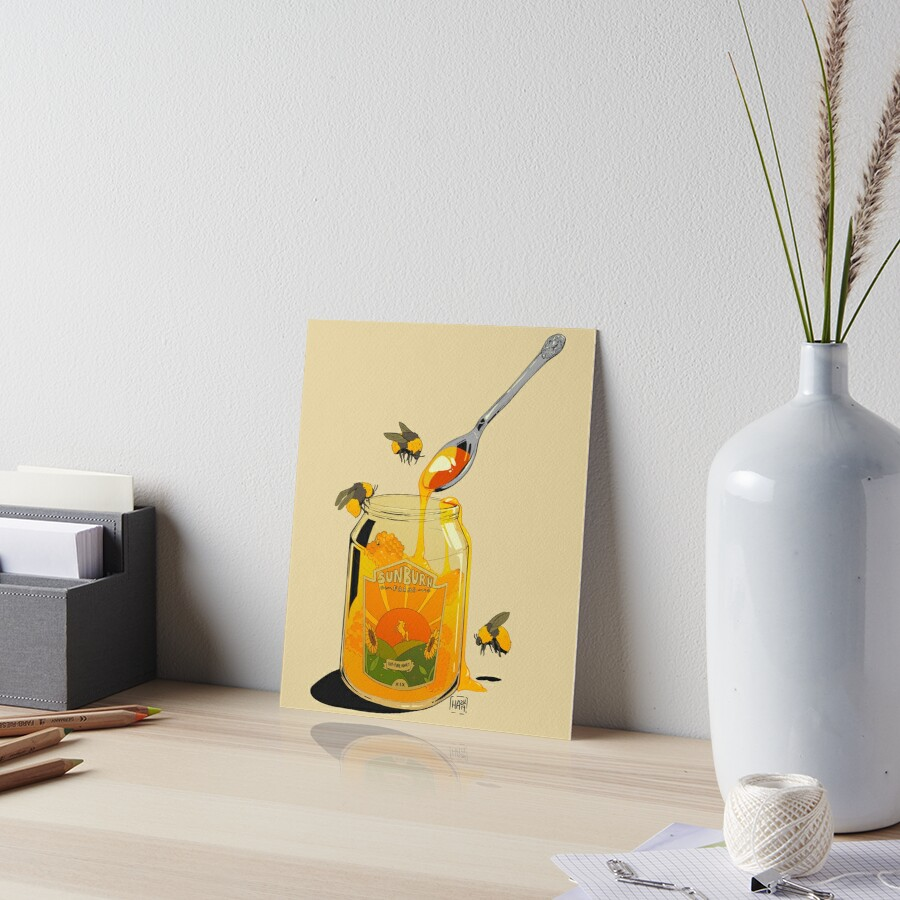 Honey Art Board Print