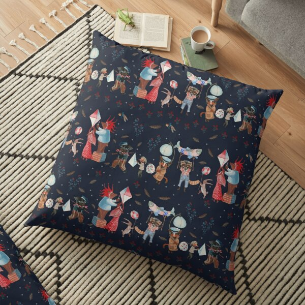 The long night parade Floor Pillow
