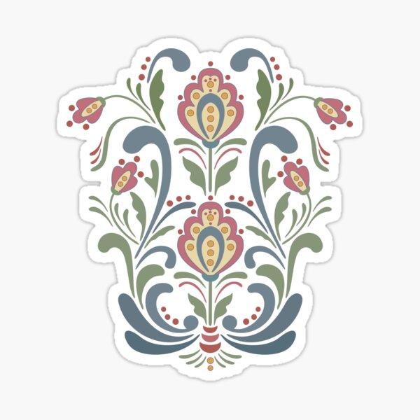 Rosemaling Flowers Sticker