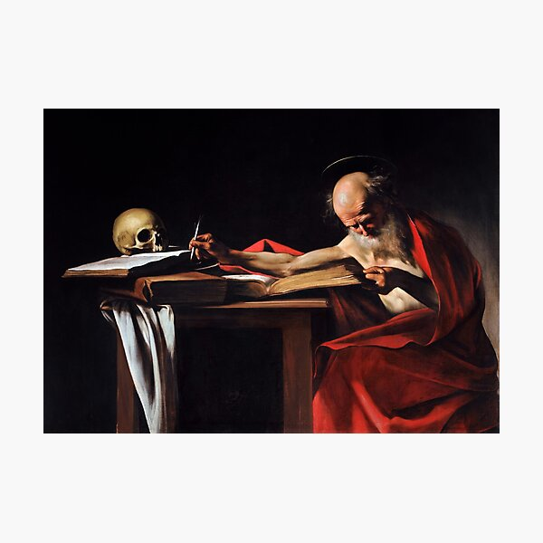 Saint Jerome Writing by Caravaggio (1606) Photographic Print