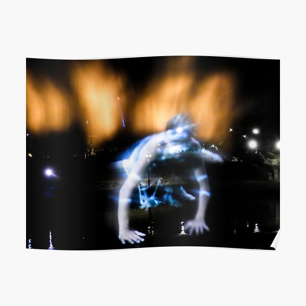 Dancer in light and water Poster