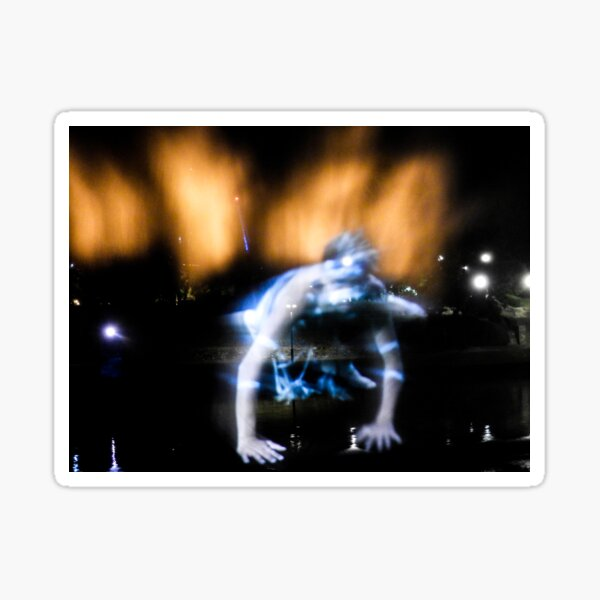 Dancer in light and water Sticker