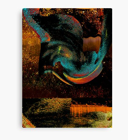 strata giving up relics.... moving layers #2 Canvas Print
