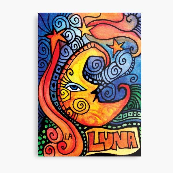 La Luna / The Moon Loteria  Metal Print