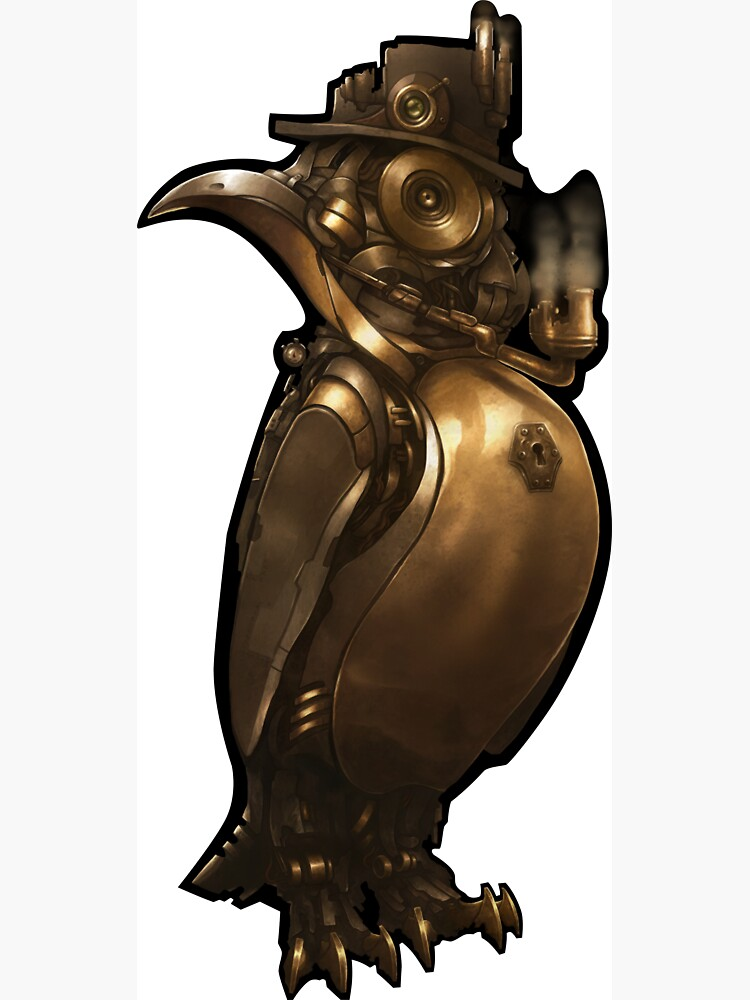 Steampunk Penguin by StarRealm