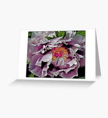 In the Eye of the Peony Greeting Card