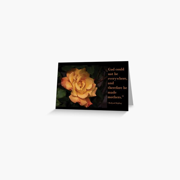 Mother's Day Rose Card Greeting Card