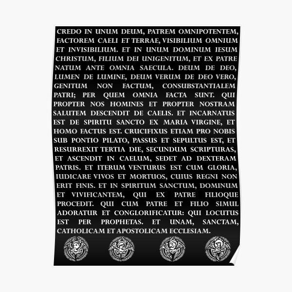 Credo Niceanum Poster
