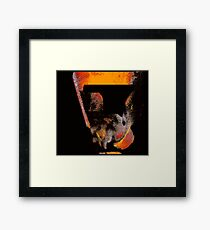 aged abstract monolith..... a space dream Framed Print