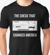 Trump Check That Changed America Unisex T-Shirt