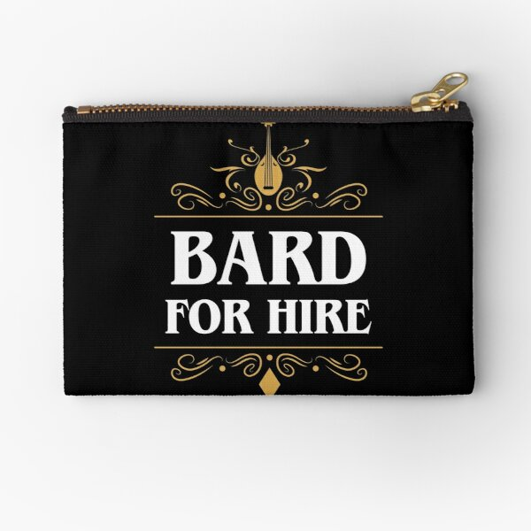 Bard For Hire Zipper Pouch