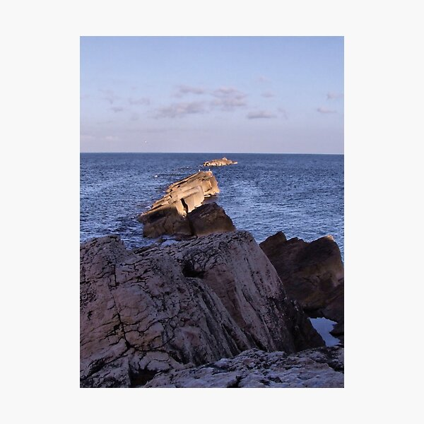 here the sea is divided... and the earth has beginning Photographic Print