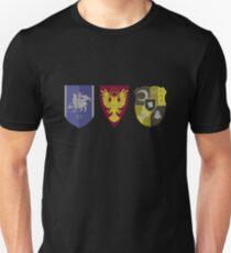 Camiseta ajustada Emblema de fuego tres casas: crestas