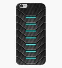 Vinilo o funda para iPhone Caja del teléfono futurista de fibra de carbono