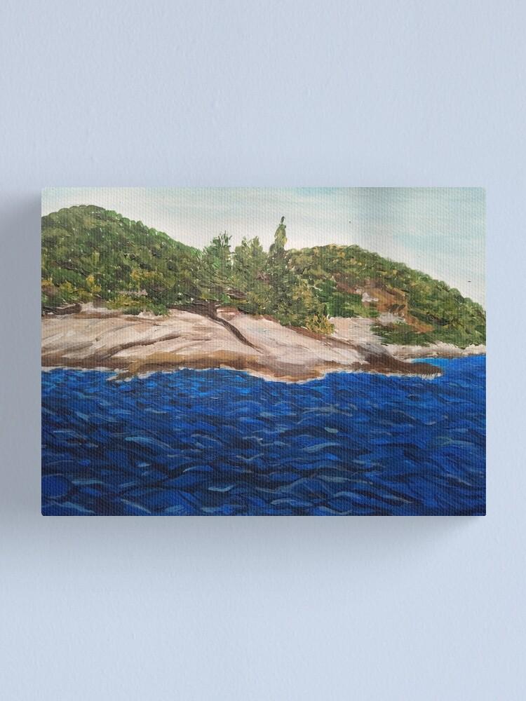 Alternate view of Seascape painting (Island Hvar/ Croatia)  Canvas Print