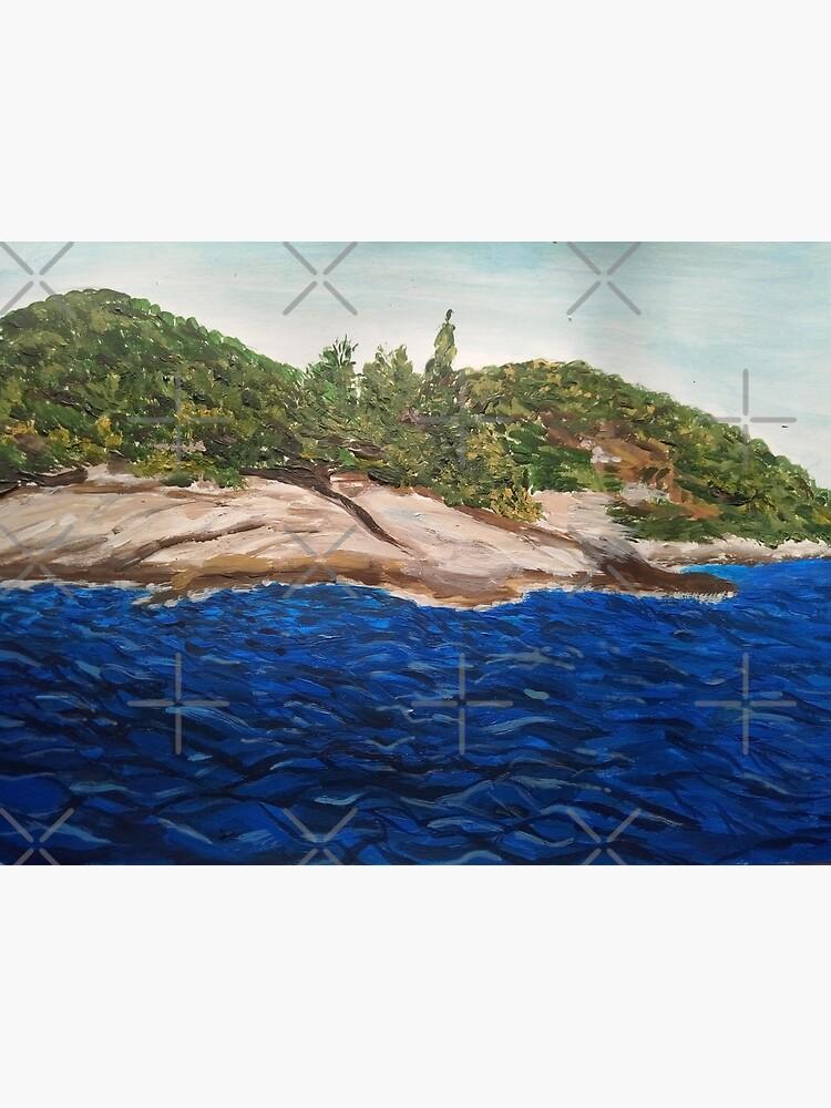 Seascape painting (Island Hvar/ Croatia)  by IvanaKada