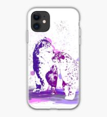 Affectionate Snow Leopards iPhone Case
