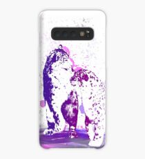 Affectionate Snow Leopards Case/Skin for Samsung Galaxy