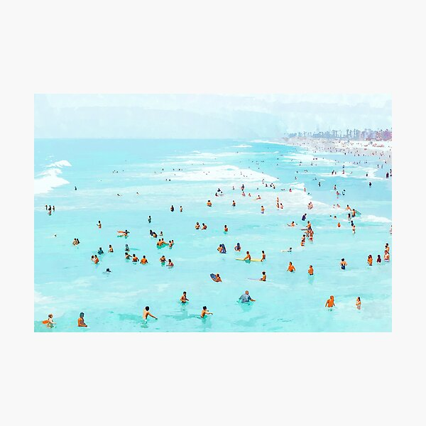 Hot Summer Day #painting #illustration  Photographic Print