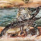 Jaguar und Krokodil von AnnaShell