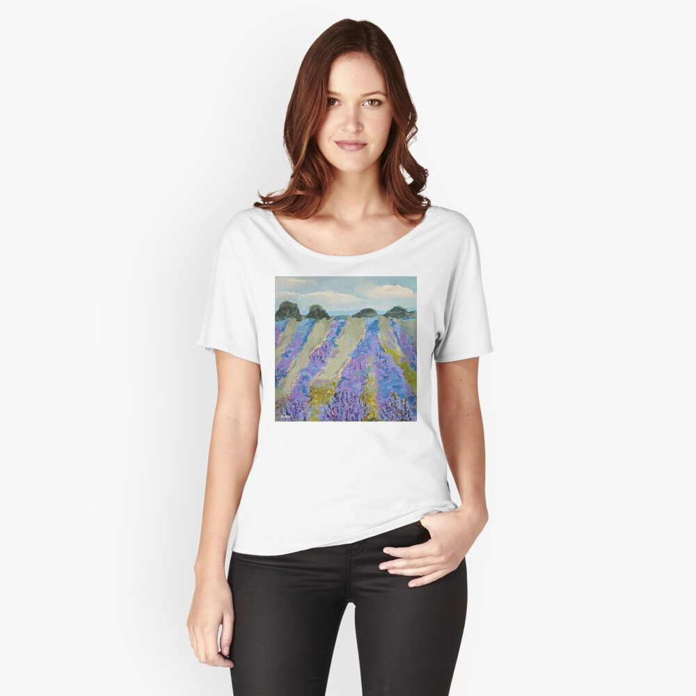 Fields of Lavender Women's Relaxed Fit T-Shirt Front
