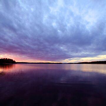 Swedish sunset by kaijupunk
